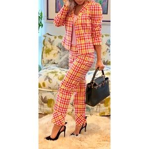 MOSCHINO CheapAndChic Plaid Pant Suit